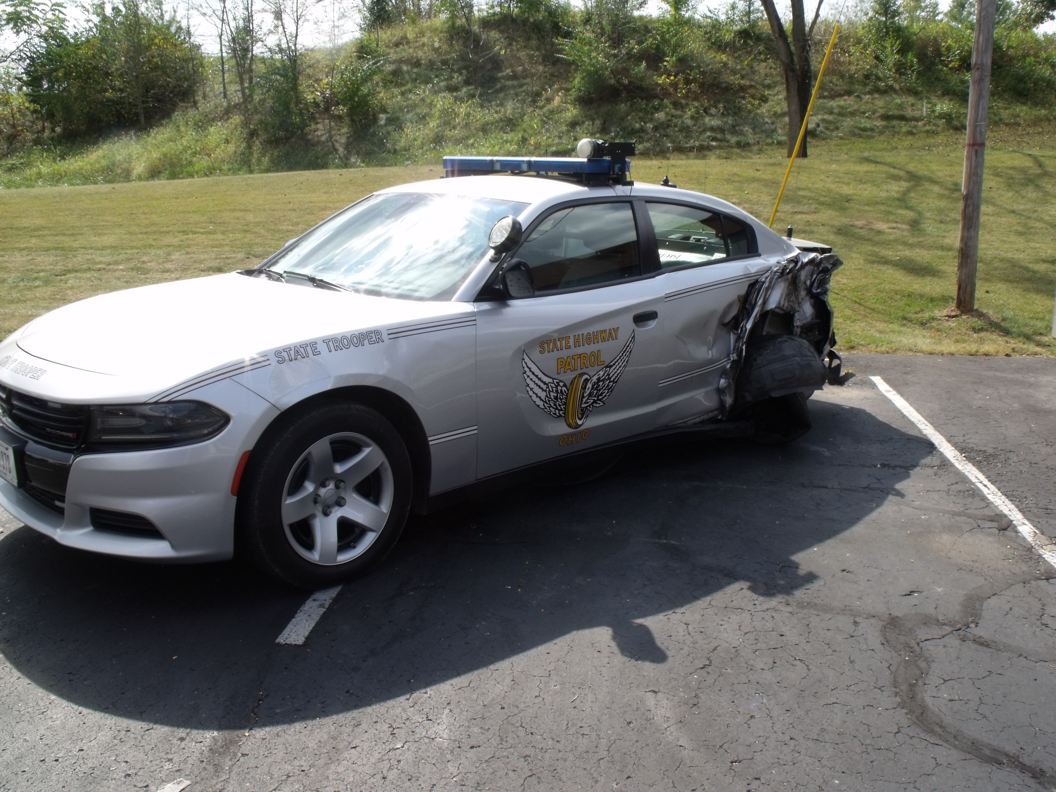 BREAKING: Ohio State Patrol Crusier Struck on I-71 in Pickaway County - Scioto Post