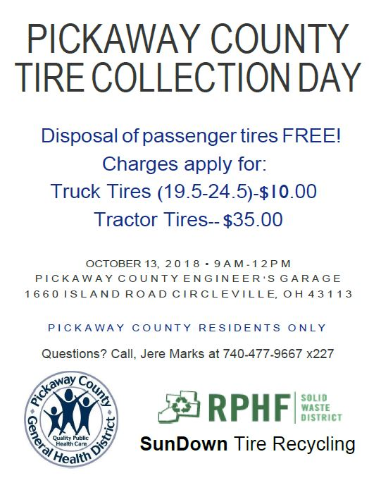 Pickaway County General Health District Offering Free Tire