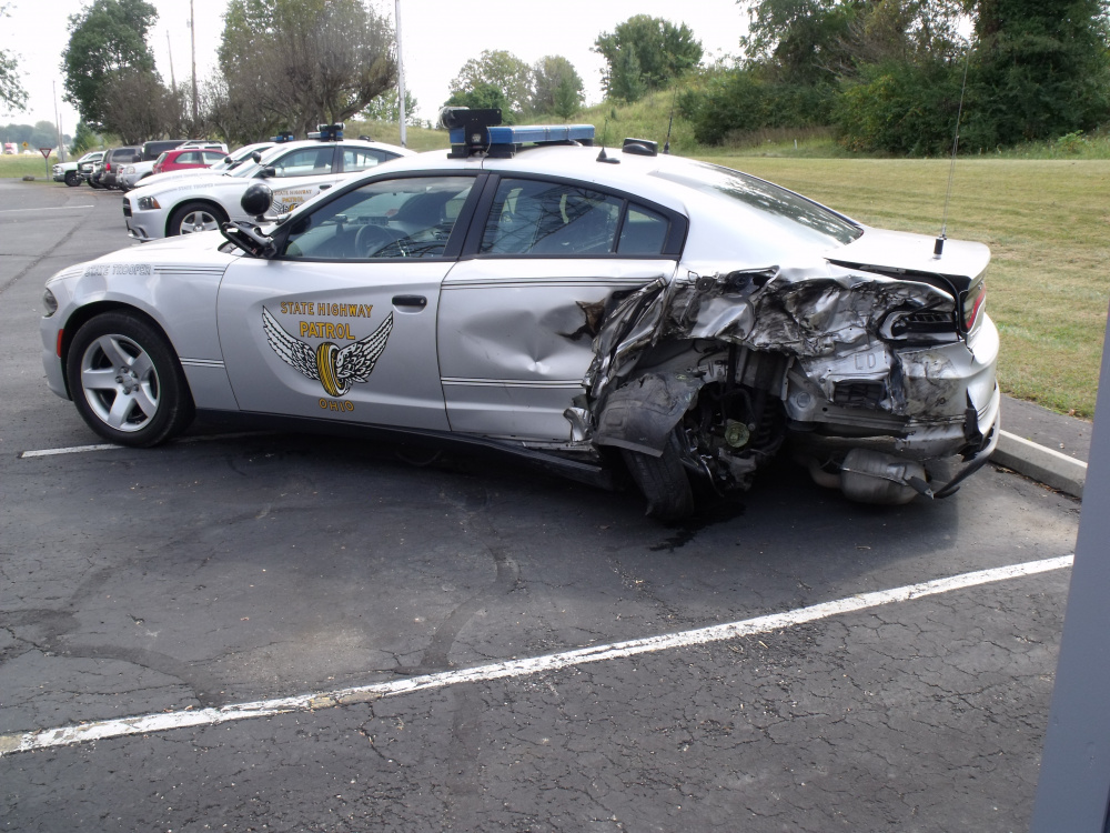 State Trooper Struck on 23 This Morning While Stopped at a Previous
