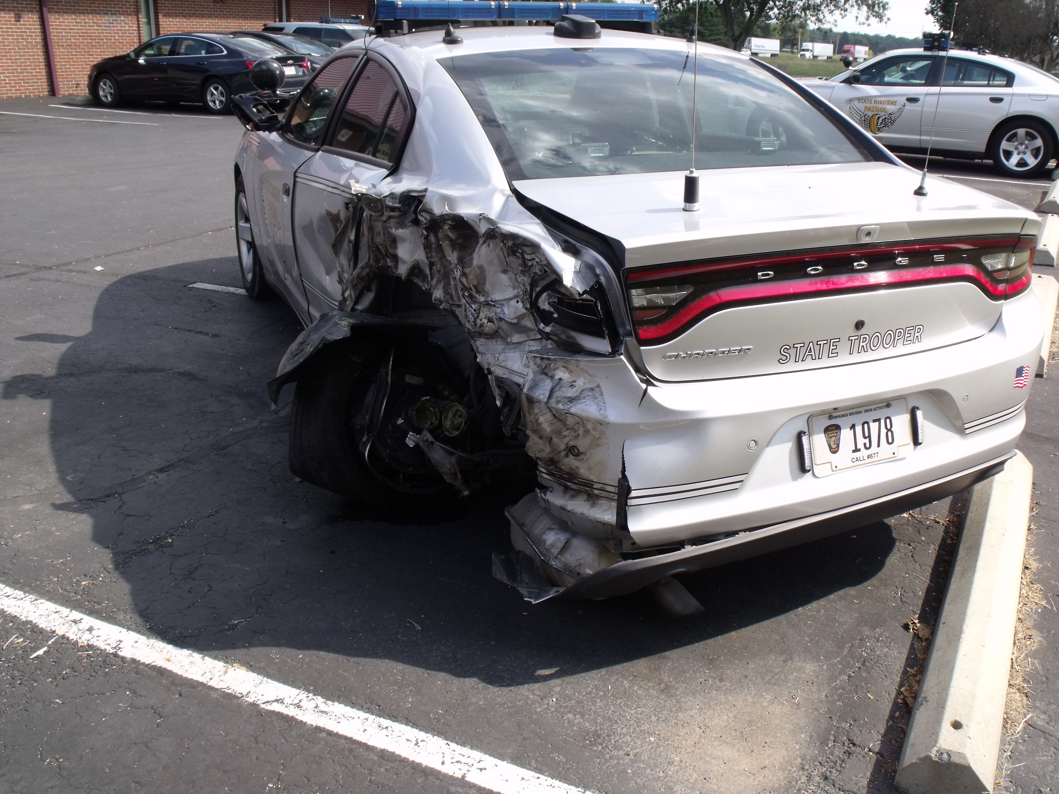 State Trooper Struck on 23 This Morning While Stopped at a