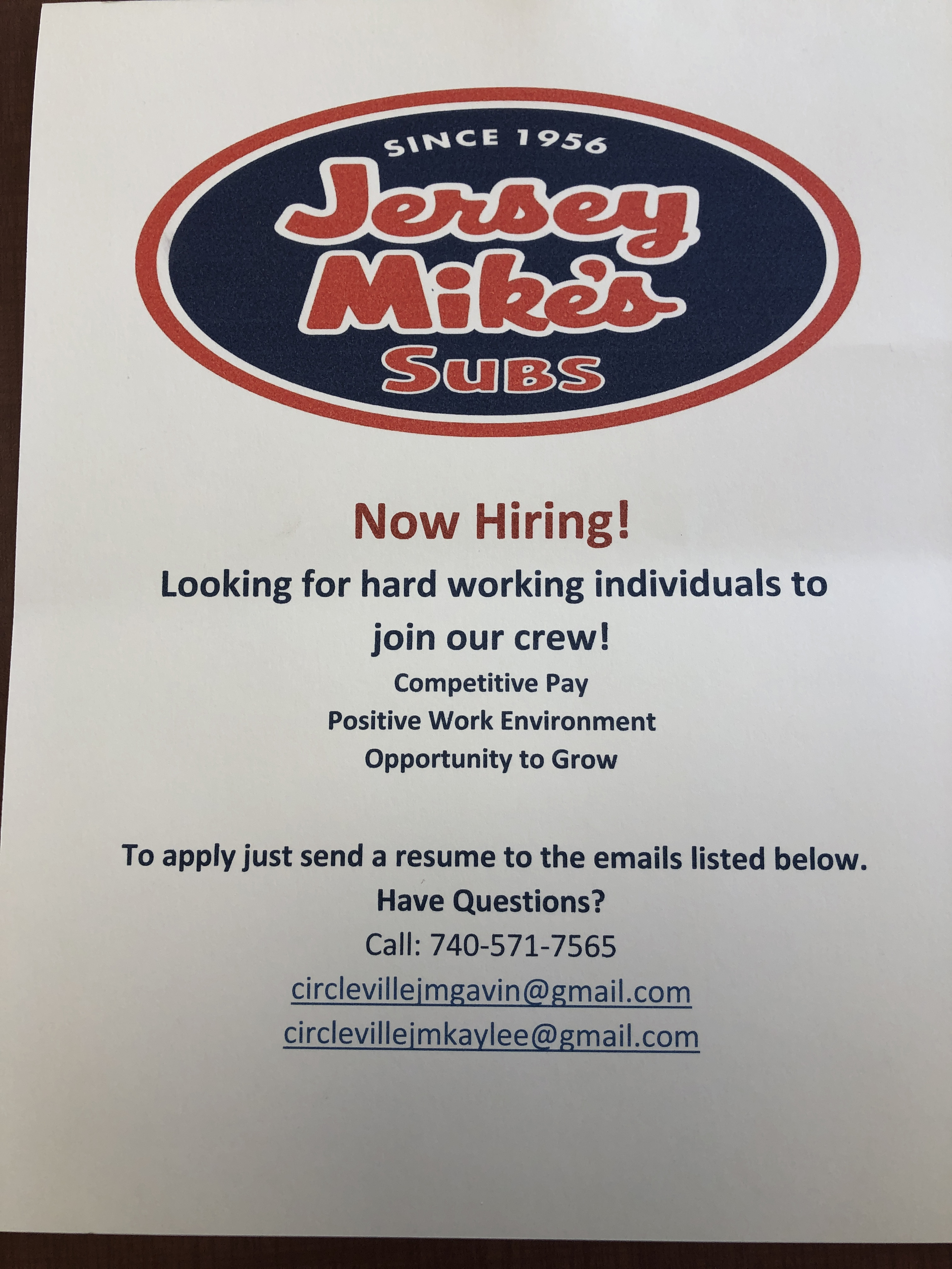 Update: Jersey Mikes Opening Date! - Scioto Post