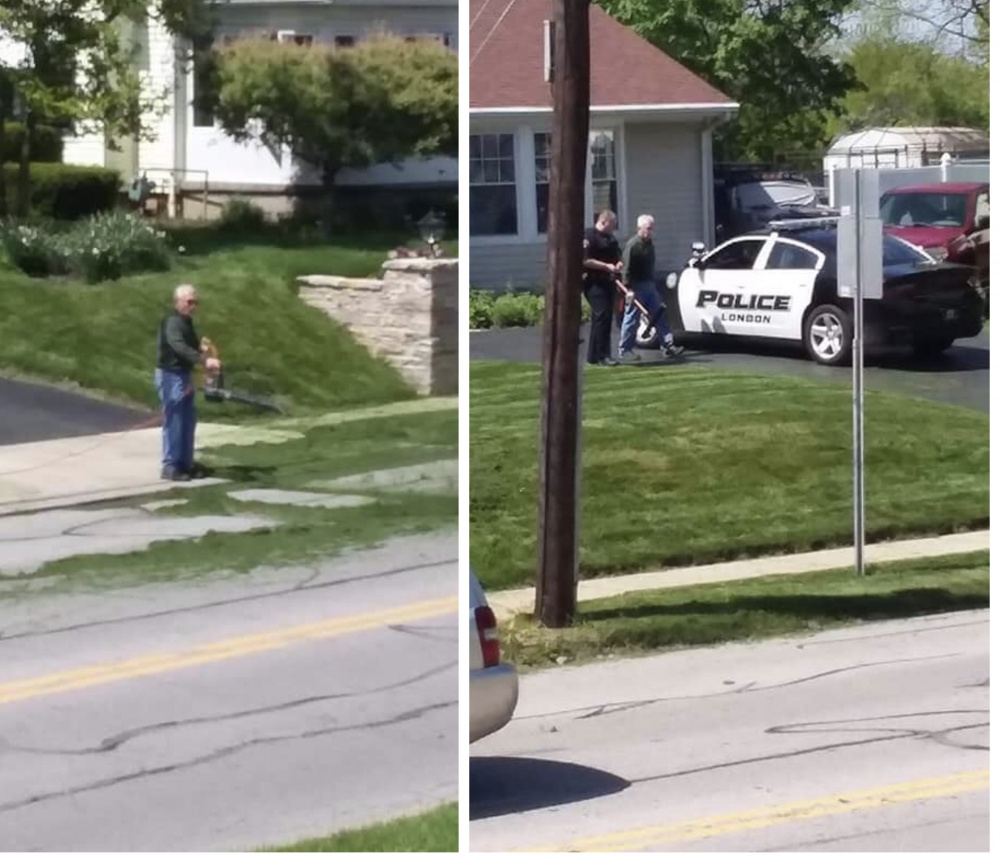 Police Discuss Lawn Clippings With Neighbor After He Yells