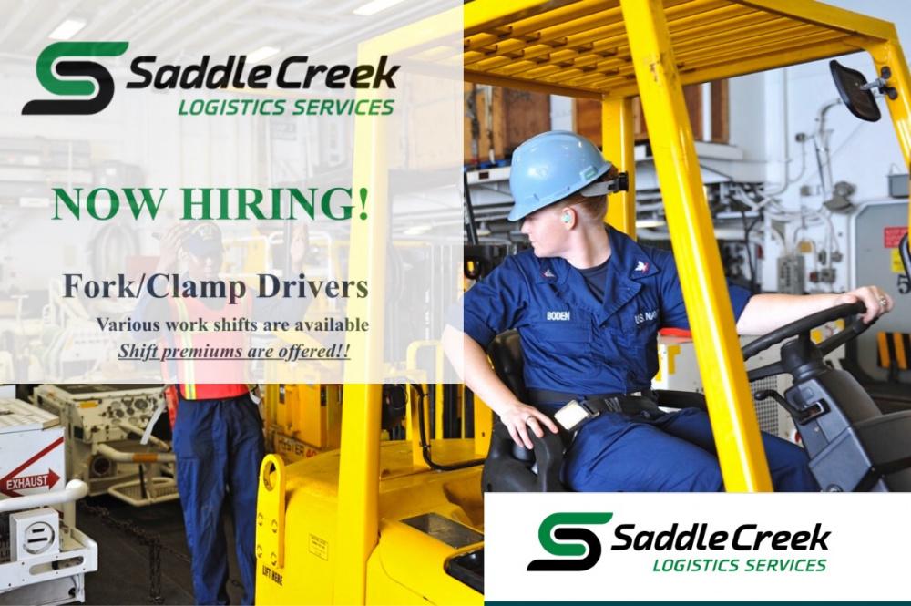 Saddle Creek Logistics Offering Hiring Event for Forklift