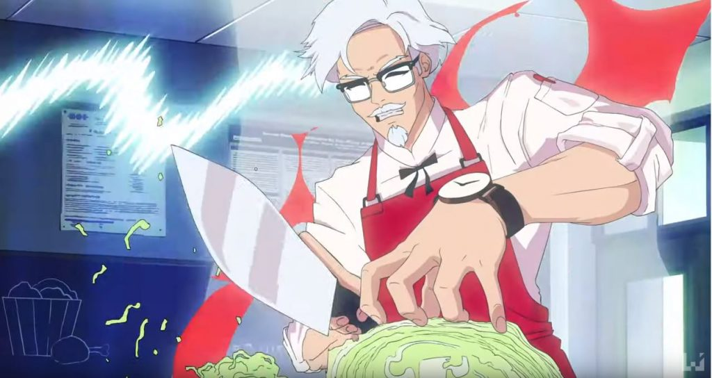 Image result for colonel sanders anime