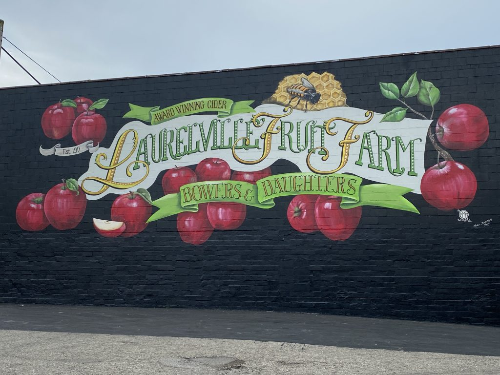 Recently they added a beautiful mural to the town